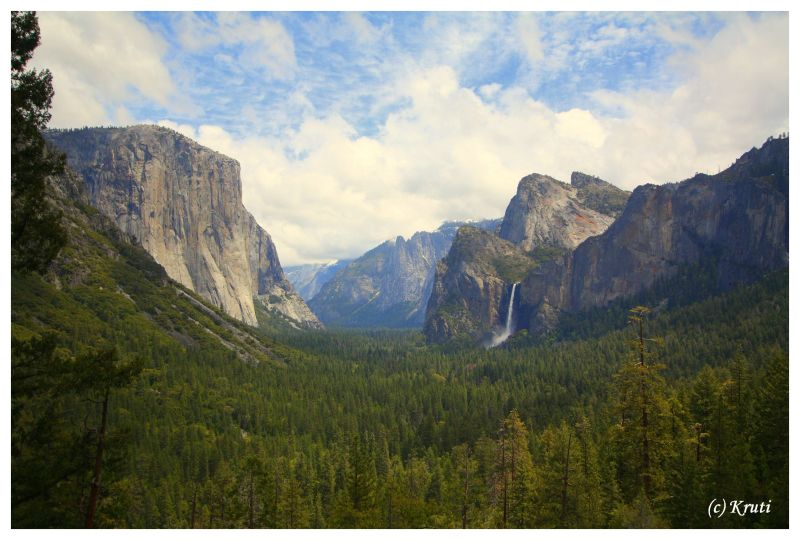 Tunnel View of Half Dome and Bridalveil Falls