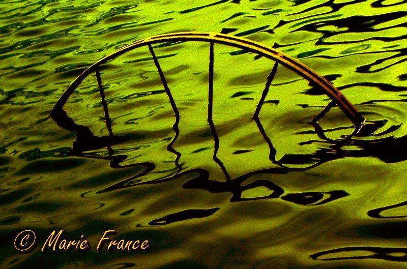 Une roue dans l'eau