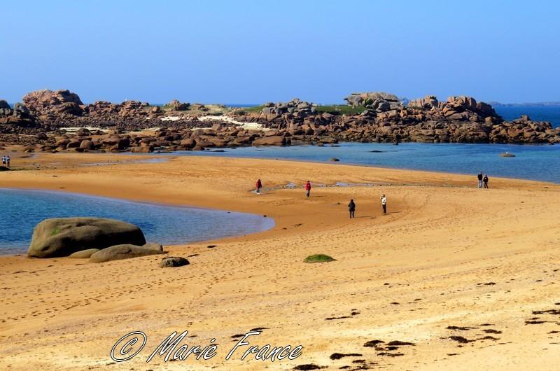 plage de l'ile Renote à Trégastel en Bretagne