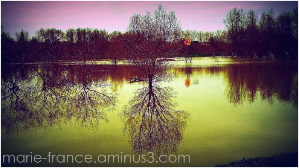 parc Balzac inondé à Angers