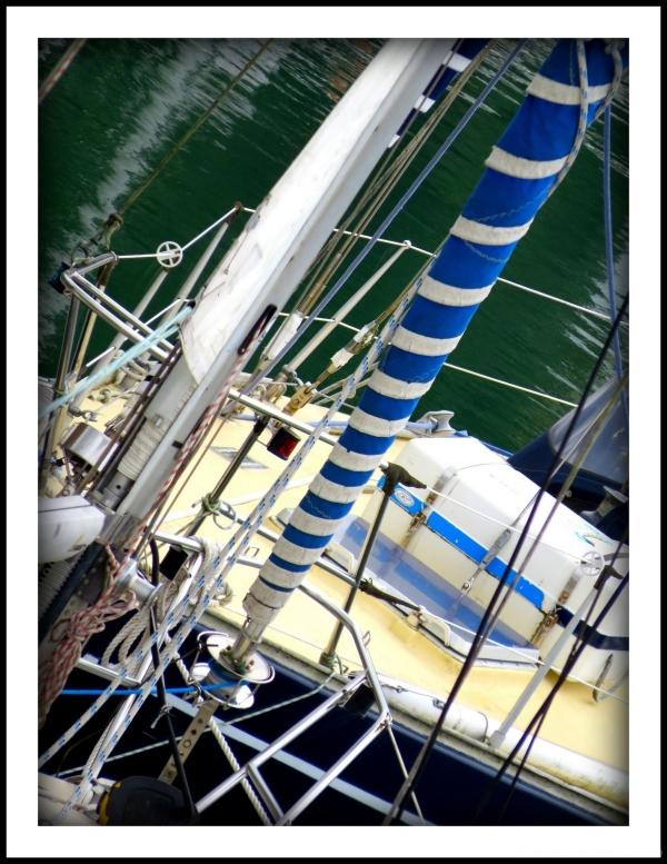 enrouleur sur un voilier