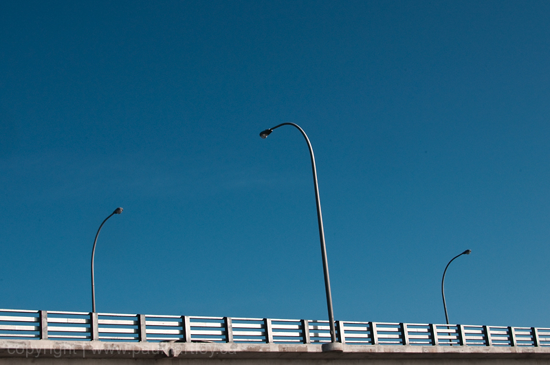 lamp posts on a bridge in Peterborough ON
