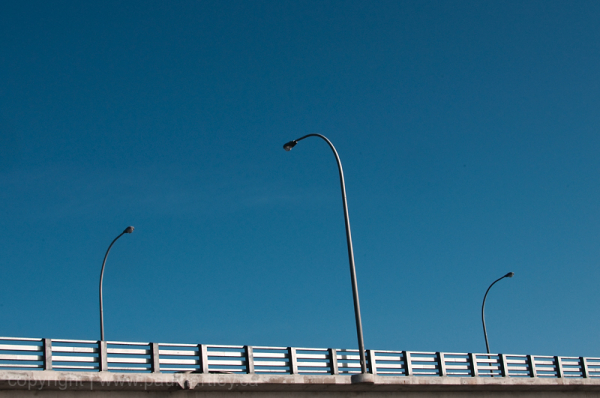 lamp posts on a bridge in Peterborough ON