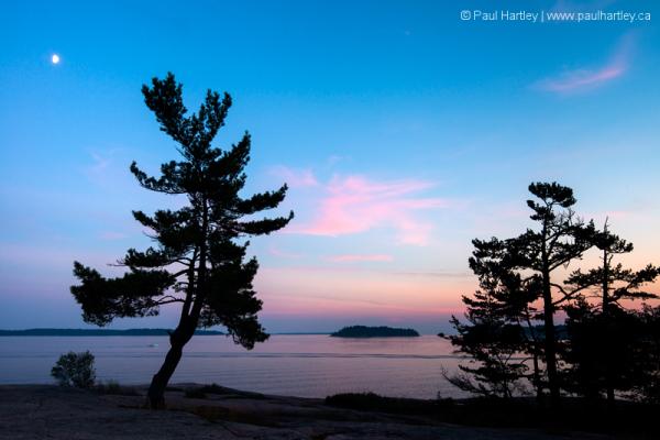 Sunset on Georgian Bay at Killbear Provincial Park