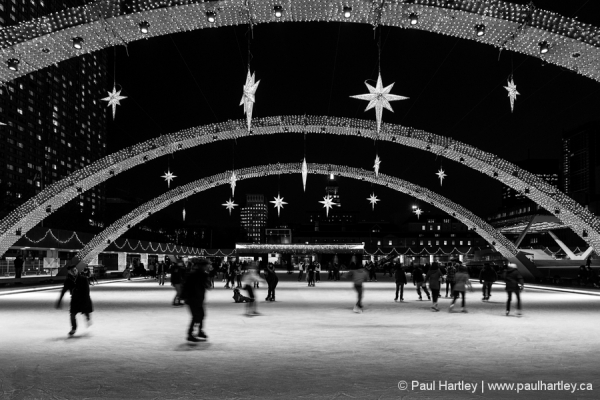 Skaters at City Hall Toronto