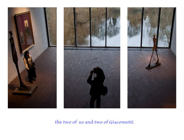 ...the two of us and two of Giacometti...
