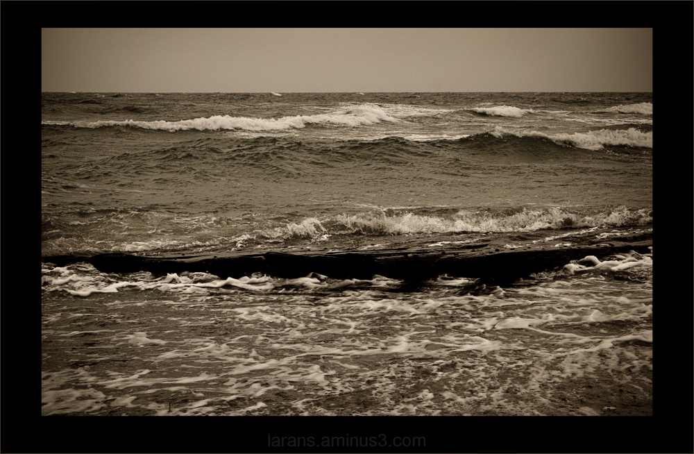 ...rough sea...