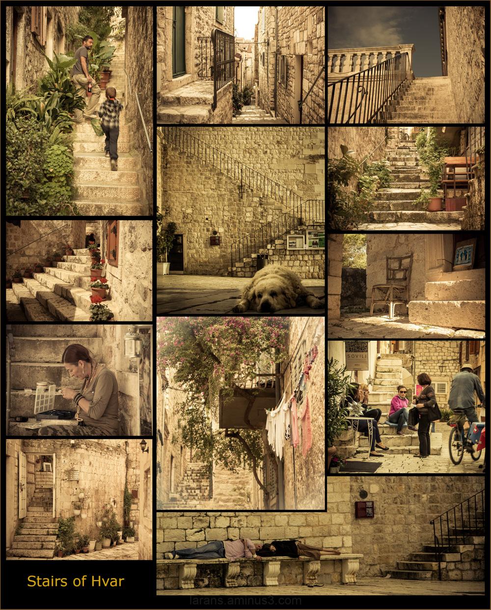 ...stairs of Hvar...