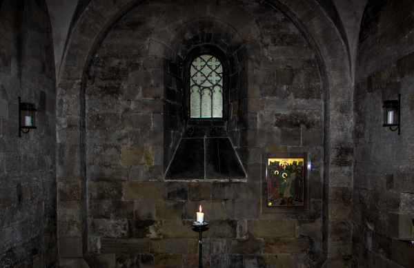 ...in the crypt...