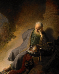Rembrandt   &quot;Jeremiah and the fall of Jerusalem&quot;