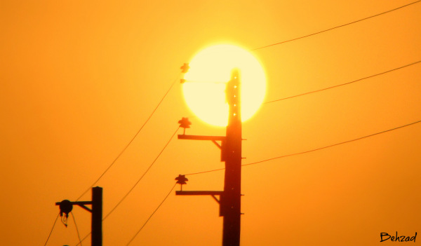 The powerful sun in power station
