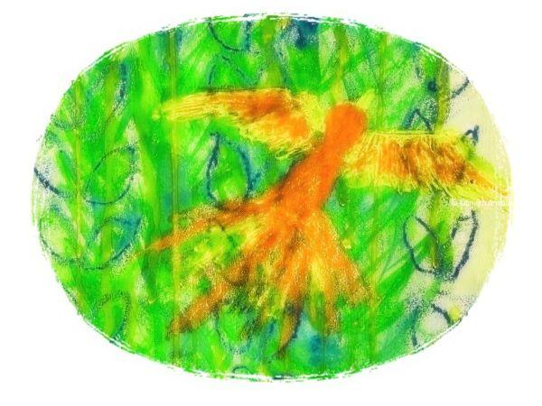 Le phénix (orange) - cadre 3