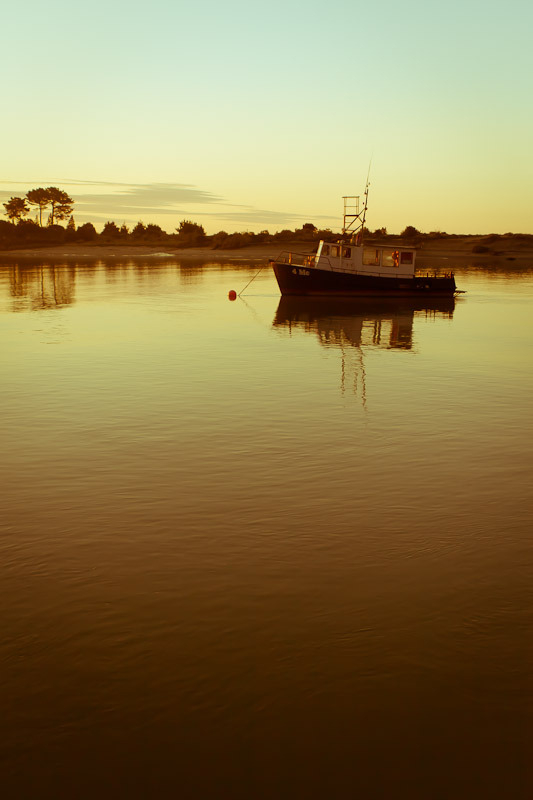 Fishing Boat on Whakatane river by BlindPoet