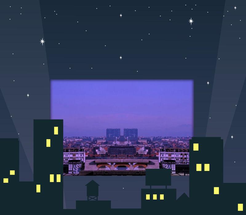 La ville la nuit!