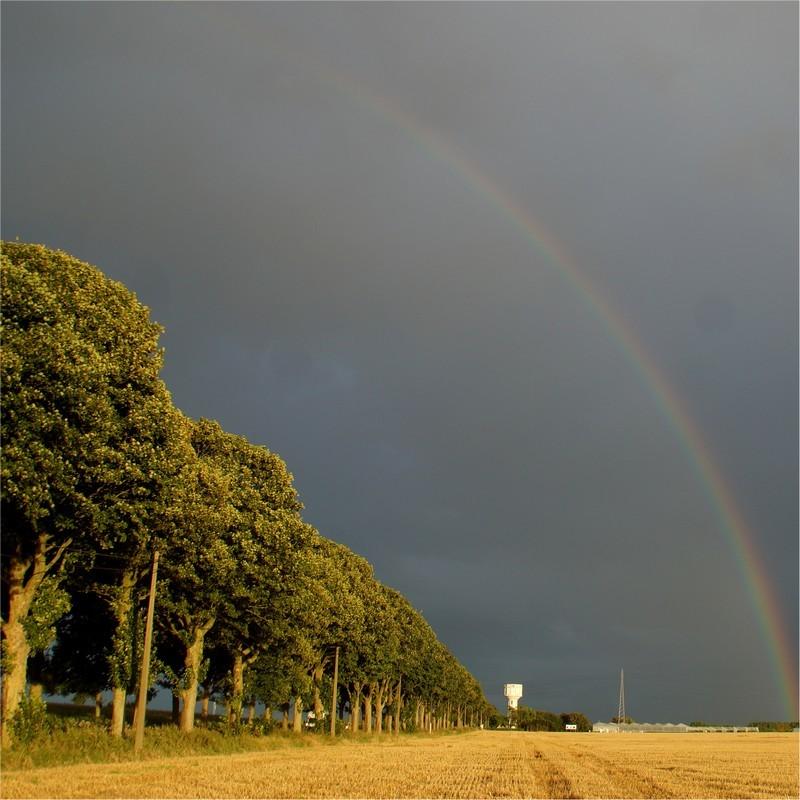 L'arc en ciel d'après moisson...