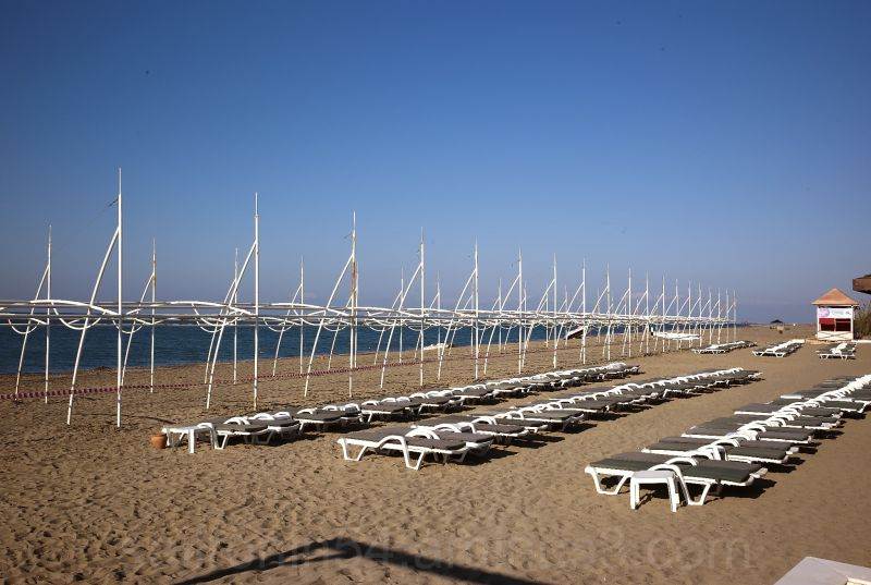 Private beach at the Alva Donna hotel in Belek