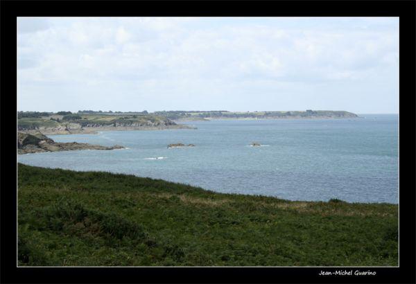Vue panoramique sur mer bretagne