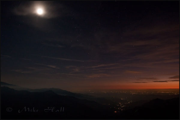 Twilight at Moro Rock, Sequoia National Park