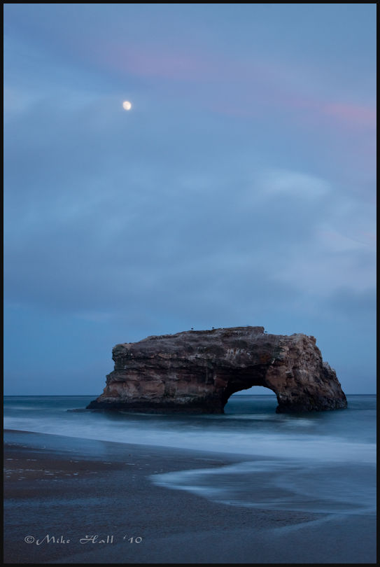 Twilight at Natural Bridges State Beach
