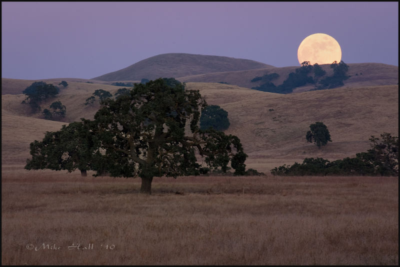 Moonrise over the Hollister Hills
