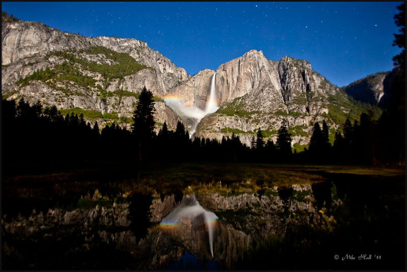 Lunar Rainbow at Yosemite Falls