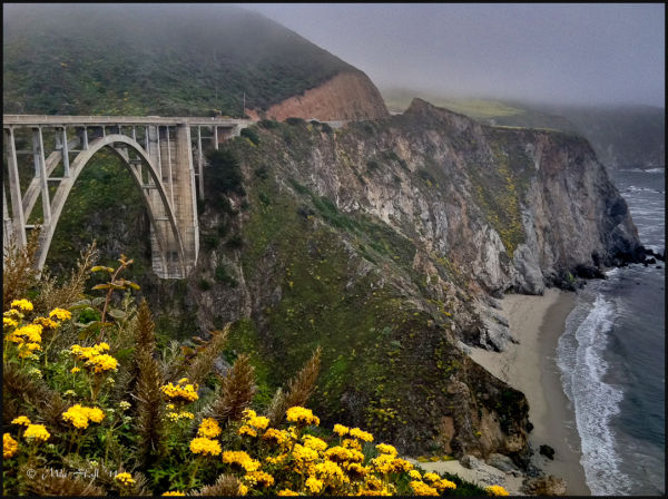 Bixby Bridge in Summer Fog, Big Sur Coast