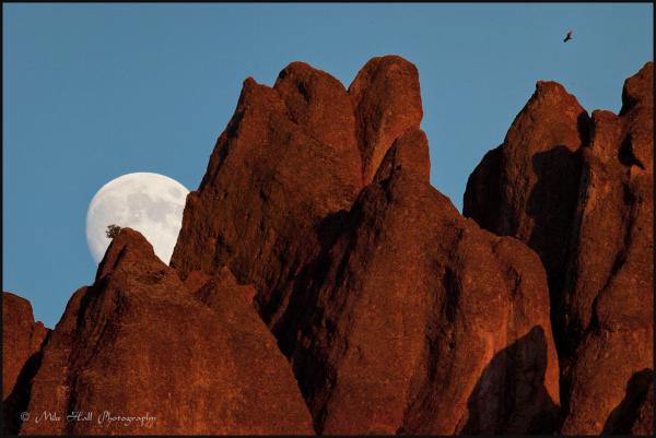 Moonrise at Pinnacles National Monument