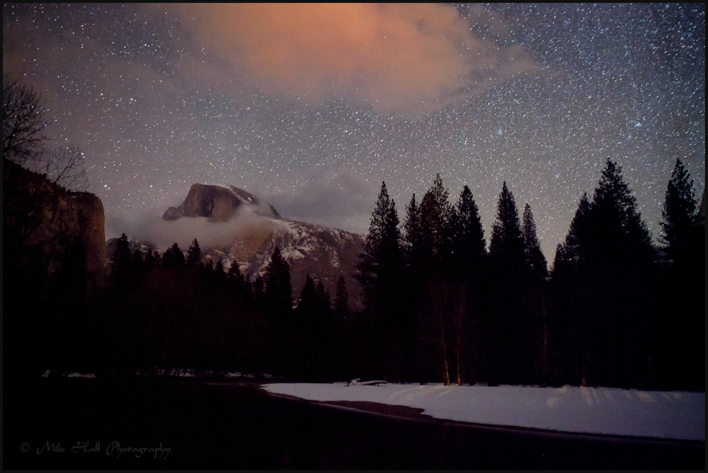 Yosemite's Half Dome at Night