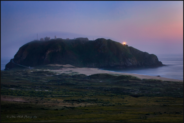 Point Sur Lightstation at twilight