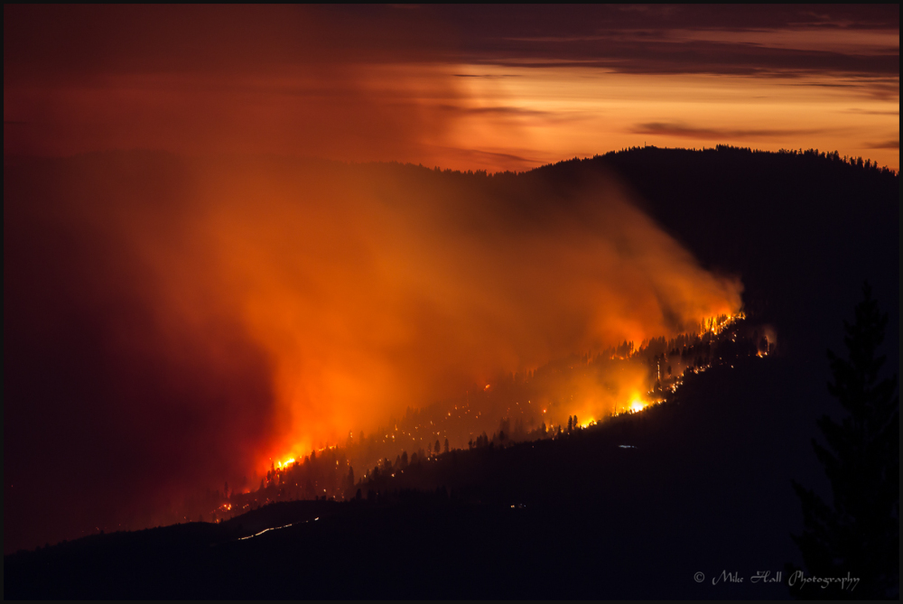El Portal Wildfire in Yosemite National Park