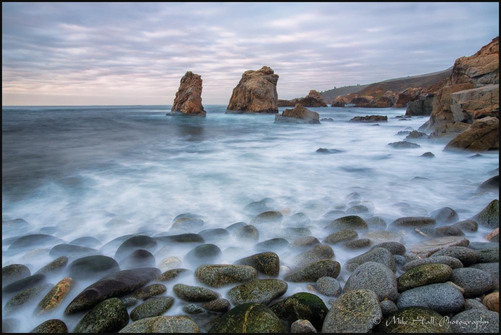 Sea Stacks under a stormy sky along the CA coast