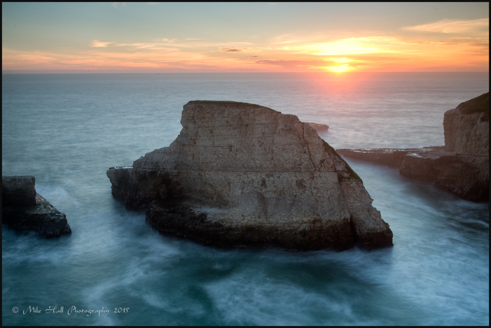 Shark Fin Cove Sunset View in Monterey Bay