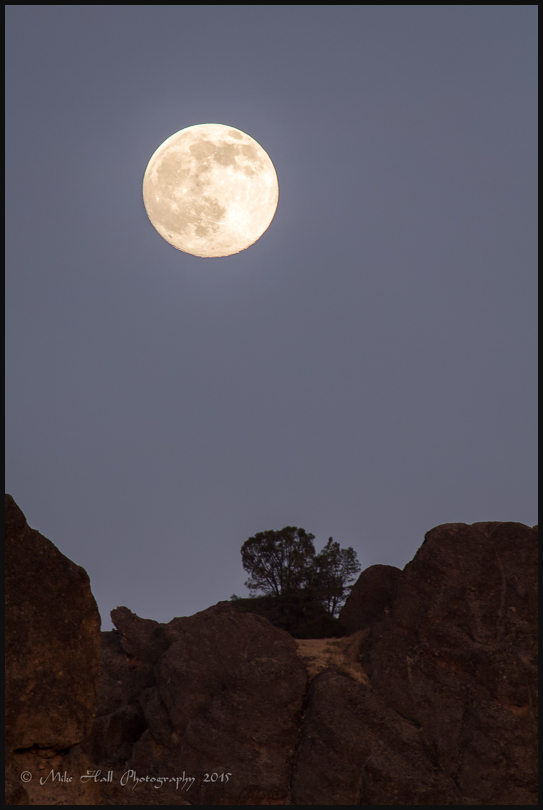 Moonrise over the High Peaks, Pinnacles Nat Park