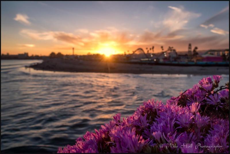 Santa Cruz Beach Boardwalk Sunset