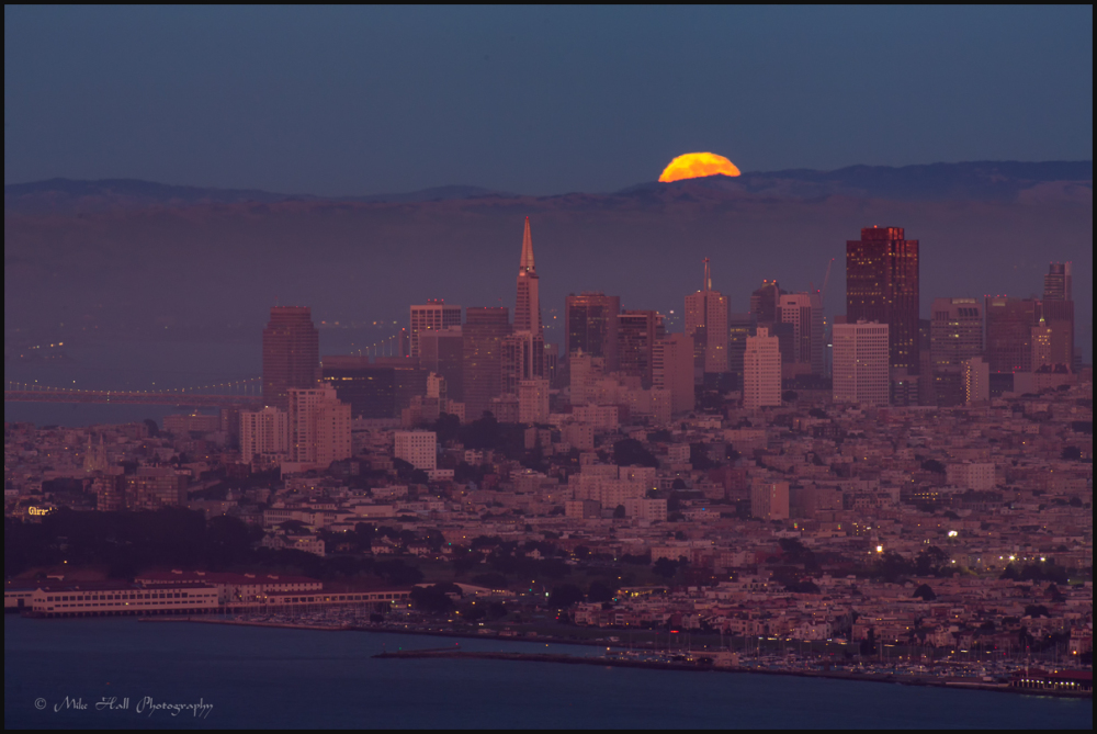 Summer Solstice Strawberry Moon over SF Bay