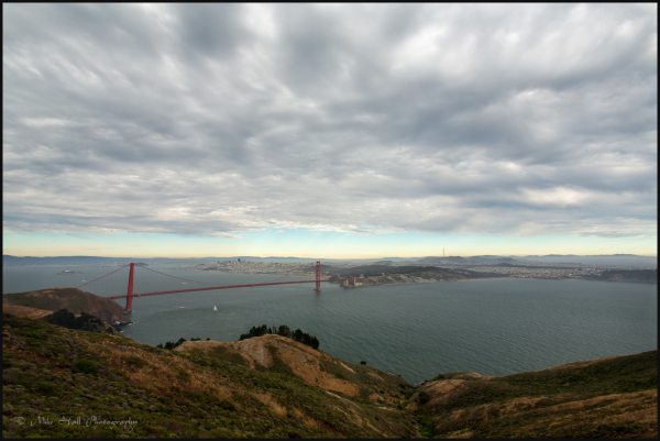 Golden Gate Bridge and San Francisco cloud cover