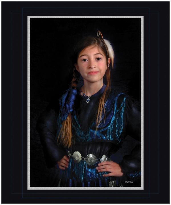 Formal Portrait of a young Indian Girl