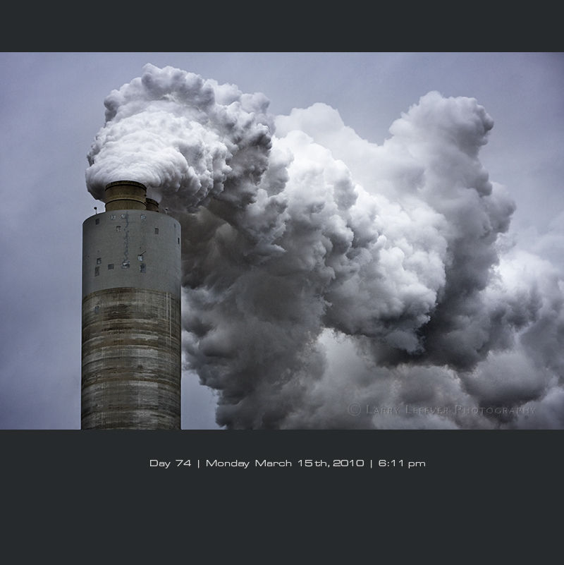 Smoke from a coal fired power plant.