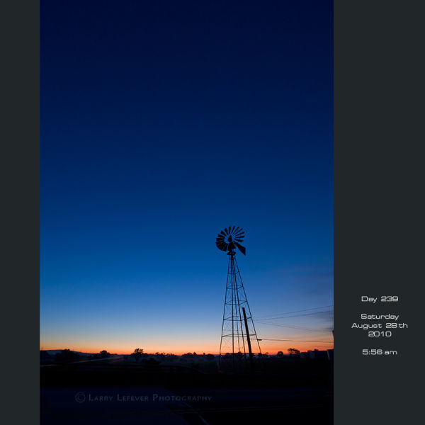 Windmill at dawn