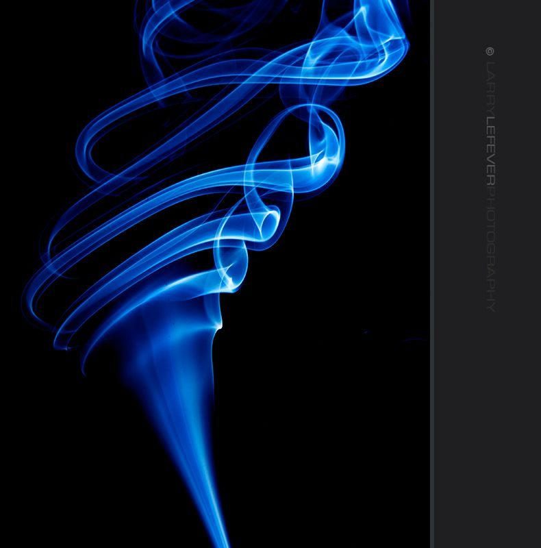 Smoke from incense