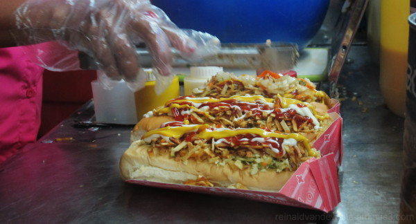 Hot dogs ...Venezuelan style.
