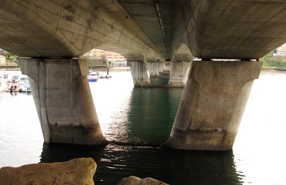 Bridge viewed from below.