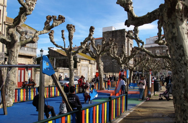 playground in a square in Bouzas.