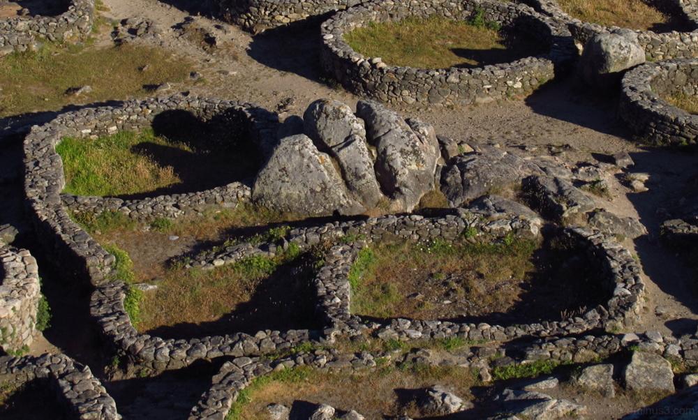 Circular stone houses