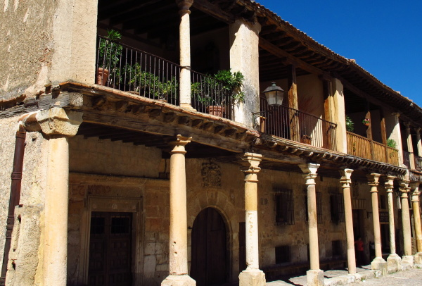 Medieval building in Pedraza village, Spain