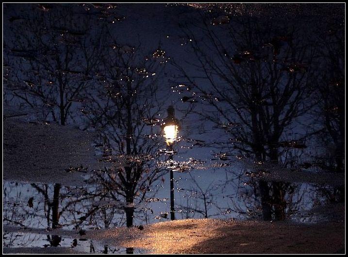 reflets, réverbères