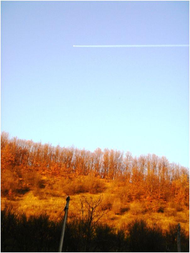 Plane on a remote sky
