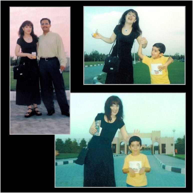 1999 08 Sanda, Mehrdad & Hammoudi - Sharjah Farm