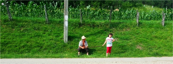 2013 06 24 Soraya & dad in the village