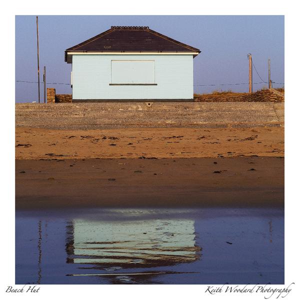 beach hut at seasons end